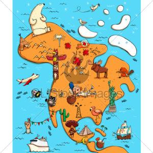 America de Nord jocuri geografie